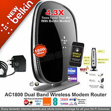 Belkin Wireless AC1800 Dual Band Modem Router ADSL BT Line Parental Control