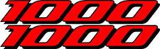 2 GSXR 1000 Decals Stickers Emblem Decal Street Bike Red graphics Stickers