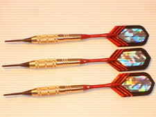 Soft Tip Darts 18 Gram Brass with Aluminum Shafts and Nylon Case, New #1015