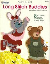 LONG STITCH BUDDIES Plastic Canvas Pattern Book Animals