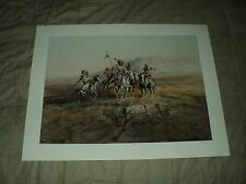 First Edition Charles M. Russell Watercolor Prints By 76 Union Four (4) Each