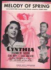 Melody of Spring 1947 Elizabeth Taylor in Cynthia Sheet Music