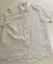 Lauren Lee Womens XL White Thin Short Sleeve Shirt Top Blouse Shoulders Pad