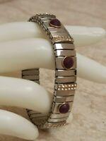 Amethyst bracelet Stretch Swarovski Bracelet Silver Designer Artisan Jewelry 2ct