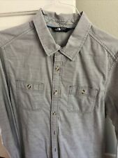 The North Face Button Down Shirt Men's Large EUC Gray