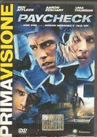 PAYCHECK DVD Versione Italiano Abbinamento Editoriale