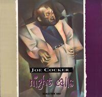 JOE COCKER 1992 NIGHT CALLS WORLD TOUR CONCERT PROGRAM BOOK BOOKLET / VG 2 EX