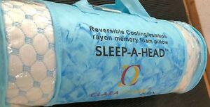 Clara Clark QUEEN Pillow Memory Foam Sleep-A-Head Cooling Bamboo A0Z088