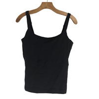 Lululemon Womens Athletic Tank Top Sleeveless Black Low Scoopu Neck 6 8