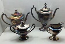 Rare Vintage Art Deco Silverplate Sierra Reed & Barton #3690 Coffee Tea Set 7pc