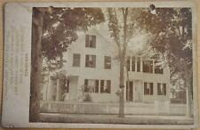 Poet Writer John Greenleaf Whittier Home Cabinet Card Photograph Amesbury MA