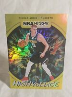 Nikola Jokic 2019-20 NBA Hoops SP Gold Foil High Voltage Insert. NUGGETS!