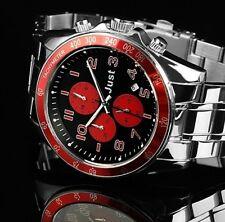 Herren Armbanduhr Chronograph Schwarz/Rot Edelstahl JU20082 JUST 129,-€ UVP