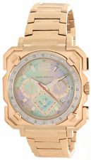 Men's Aqua Master Mother of Pearl Dial Rose Gold Tone Diamond Watch W#355_5 ICED