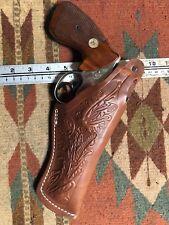 """K305-357 Pancake Leather Holster Thumb Break For 357 Magnum S/&W 686 4/"""" Handmade!"""