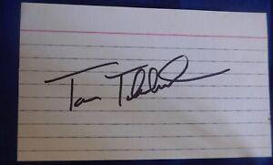 TOM THIBODEAU autographed signed auto 3x5 NY Knicks Chicago Bulls Timberwolves