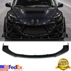 Front Bumper Lip Spoiler Splitters Carbon Fiber For Mazda 2 3 5 6 CX-3 CX-4 CX-5