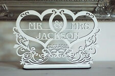 Personalised MR&MRS Sign Wedding Top Table Decoration with date, Mr And Mrs,Gift