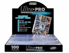ULTRA PRO 9 POCKET HOLOGRAM PLATINUM SERIES PAGES x 100