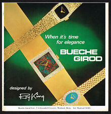 1970s Original Vintage Bueche Girod Roy King Watch Print Ad