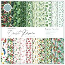 """New Craft Consortium 12"""" x 12"""" Paper Pad Craft Papers - Tropical Paradise"""