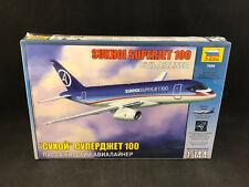 Zvezda Sukhoi Superjet 100 Civil Airliner 1:144 Scale Plastic Model Kit 7009 NIB