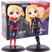 Marvel QPosket Captain Marvel Black Widow Natasha Romanoff PVC Figure Model Toy