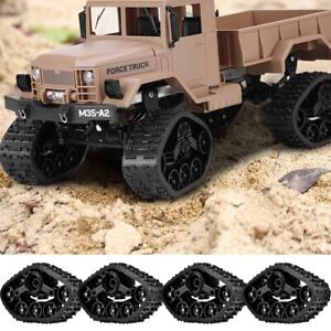 4pcs RC Car Tire Wheel Rubber Crawler Tyre for WPL 1/16 RC Military Truck