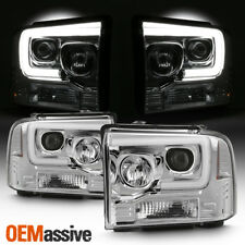 Fits 2005 2006 2007 Ford F250/350/450 Super Duty Light Bar Projector Headlights