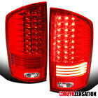 For 2002-2006 Dodge Ram 150025003500 Red Led Tail Lights Lamps Leftright