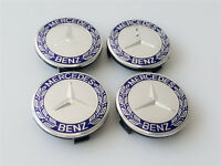 4pcs Mercedes Benz Alloy Wheel Centre Caps 75mm Badges Blue Hub Emblem Fit BENZ