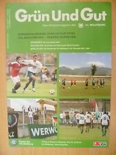 2003/04 Grun Und Gut Magazine- VFL Wolfsburg v Marek Dupnitza