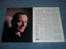 1991 Interview Article with Actor Joe Pesci Good Fellas Casino