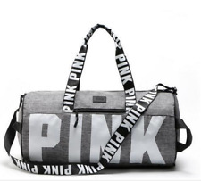 Victoria Secret PINK Grey Duffle Bag Gym Travel Vacation Bag