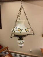 Antique Vintage Gone with The Wind GWTW Hurricane Hanging Parlor Lamp Chandelier