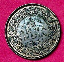 1941 1/12 ANNA INDIA KING GEORGE THE VI ALMOST  AU / UNC