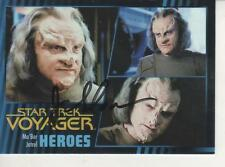 "JAMES SLOYAN SIGNED 2015 ""STAR TREK"" VOYAGER HEROES & VILLAINS #64 MA'BOR JETREL"