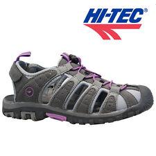 Womens HI-TEC Shore Sports Adventure Trail Walking Closed Toe Sandals Shoes 4-8 Grey Orchid UK 6