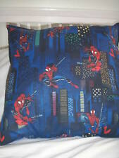"NEW Made in Uk Cushion Cover Spiderman Cityscape Night Toddler BOY for 22"" Blue"
