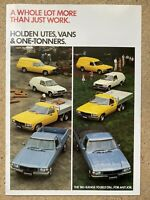 1984 Holden Utes, Vans & One-Tonners original Australian sales brochure