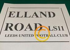 Elland Road Sign Stencil A4