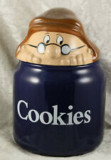 Lyons Tetley cookie jar lidded made by Wade 8 inches tall food advertising