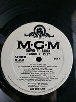 Jeannie C. Riley PROMO Down To Earth Vinyl White Label Vinyl Lp