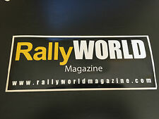 AUTOCOLLANT RALLYE WORLD MAGAZINE MOTORSPORT