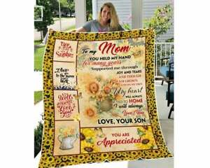 Customized To My Mom Sunflower You Are Appreciate Fleece Blanket Gift