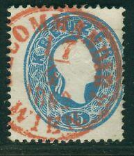 Österreich 1860 15 Kreuzer tadelos RECO Stempel rot