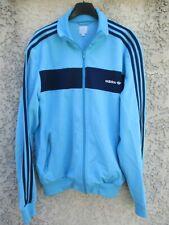 Veste ADIDAS bleu ciel rétro vintage années 80 tracktop jacket giacca jacke XL