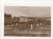 The Grass Lawn Tennis Courts Teignmouth Devon Vintage RP Postcard 544b