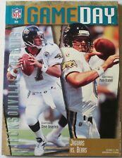 1995 Chicago Bears vs Jacksonville Jaguars Program Brunell Beuerlein Cover