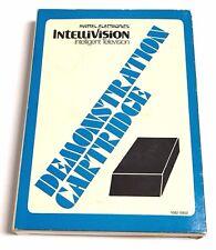 Intellivision DEMONSTRATION CARTRIDGE Vintage 1979 White Label Demo w/ Box EX